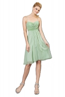 Cocktailkleid mintgrn sommerlich Chiffon knielang 