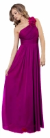 Abendkleid magenta lang One-Shoulder-Dress
