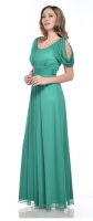 Abendkleid jade grn Chiffon elegante Abendmode 