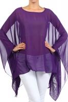 Abend-Bluse Tunika Stola Überwurf purple