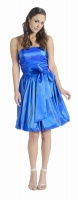 Cocktailkleid royalblau Ballonrock Spaghettitrger 