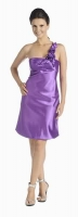 Verspieltes Cocktailkleid purple Satin 