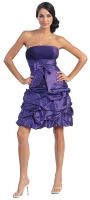 Cocktailkleid kurz purple Corsagenkleid Abiballkleid 