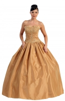 Sonderpreis nur heute! Luxus Ballkleid gold Sissi-Kleid 