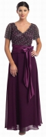 Brautmutterkleid burgund Abendmode Abendkleid 