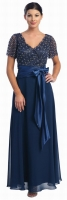 Brautmutterkleid dunkelblau Abendmode Abendkleid 
