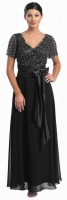 Brautmutterkleid schwarz Abendmode Abendkleid 
