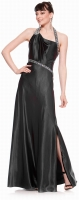 Hollywood Abendkleid schwarz Satin