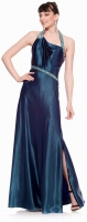 Hollywood Abendkleid tealblau Satin 