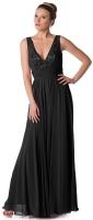Festlich und elegant Abendkleid schwarz Chiffon