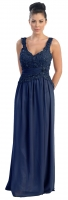 Abendkleid Chiffon dunkelblau bergre 