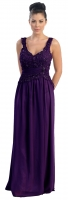 Abendkleid Chiffon violett fr Mollige 