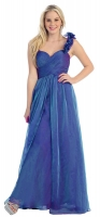 Abendkleid Luxus Glamour royal-blau Chiffon