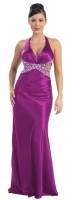 Red-Carpet-Dress Abendkleid magenta Charmeuse