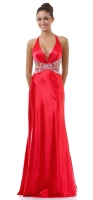 Red-Carpet-Dress Abendkleid rot Charmeuse