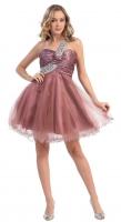 Tanzkleid Petticoat-Kleid Cocktail kupfer-braun