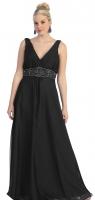 Abendkleid XXL Festkleid große Größen schwarz