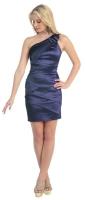 Cocktailkleid Minikleid Partykleid dunkelblau