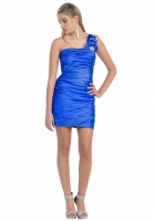 Abikleid Cocktailkleid 2014 kurz sexy royal-blau