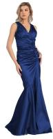 Brautmutterkleider lang XXL Festkleid dunkelblau